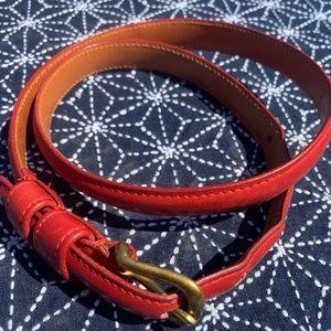 """Coach red leather vintage skinny belt 28"""""""